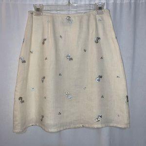 Petite Sophisticate Women's Cream Skirt Size 8
